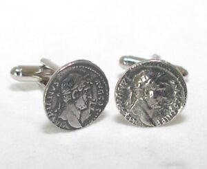 Roman-Coin-Hadrian-Cufflinks-in-Fine-English-Pewter