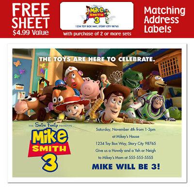 8 Toy Story 3 Movie Birthday Party Invitations