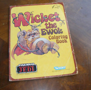 Wicket The Ewok Star Wars Jedi Kenner Coloring Book