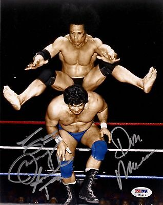 Superfly Jimmy Snuka   Don Muraco Signed Wwe 8X10 Photo Psa Dna Coa Auto Picture