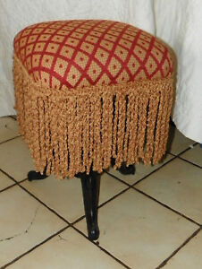 Burgundy-Gold-Diamond-Print-Piano-Stool-Organ-Stool-ST19