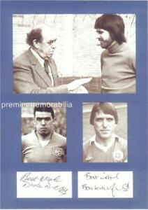 EVERTON FC SIGNED WILLIAM DIXIE DEAN & BOB LATCHFORD