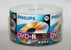 500-PHILIPS-LOGO-16X-DVD-R-Blank-Disc-Media-4-7GB-FREE-EXPEDITED-SHIPPING