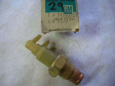 1980 Buick Skylark Sport Chevy Citation Vacuum Switch
