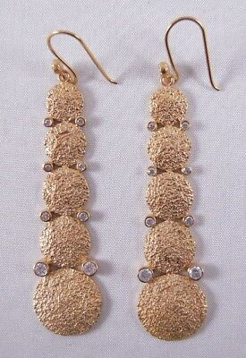 Melinda Maria Falling Pod Earrings Gold/white