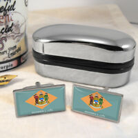 Delaware Bandiera Mens Regalo Gemelli Us Usa Stato -  - ebay.it