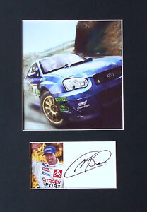 Colin McRae   Signed mounted photo presentation