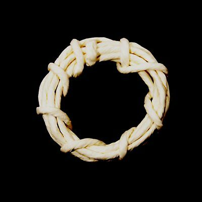 Bleached Paper Ribbon Wreath 4 12pc/pack 05339