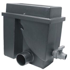 Bogensieb/Spaltsieb-Filter schwarz Edelstahlsieb 300µ mit Schmutzauslass