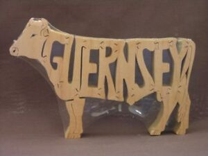 Guernsey-Cattle-Cow-Bull-Amish-Made-Wood-Puzzle-Toy