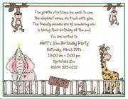 Zoo Party Invitations