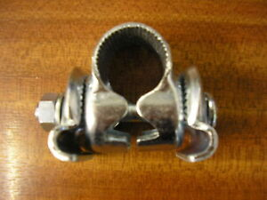 SEAT BRACKET/ SADDLE CLAMP TO ATTACH ANY SEAT WITH RAILS TO A BIKE SEAT POST NOS