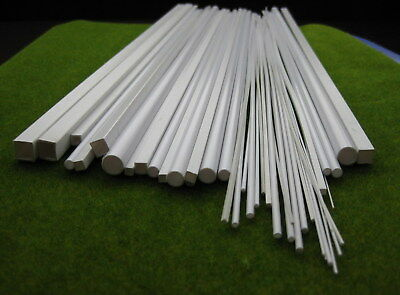 48 x Styrene ABS Rod, Pipes and Square Sections #ABS00