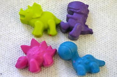 10 Set - 4 Dinosaur Crayons Party Train Favors Birthday