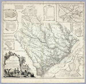 BIG 1773 SC MAP North Myrtle Beach Walterboro SURNAMES