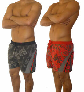 Mens-Floral-Swimming-Shorts-S-M-L-XL-XXL-Lined-Trunks-Brand-New