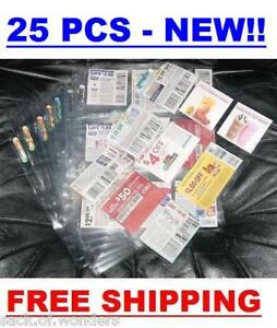 25-Coupon-Sleeves-Pages-for-Binder-9-Pockets-NEW-Baseball-Trading-Cards