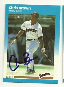 Chris Brown 1987 Fleer Update Signed U 11 Padres Dec | eBay
