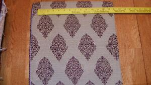 Beige-Plum-Print-Brocade-Upholstery-Fabric-Remnant-F501
