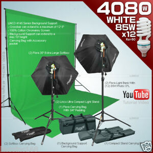 Linco-Flora-Studio-Photography-Chromakey-Green-Screen-Backdrop-Stand-Kit-80071