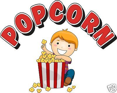 Popcorn Concession Decal 12 Vendor Fast Food