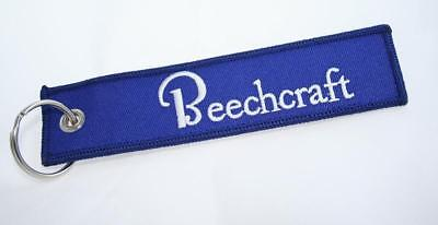 Beechcraft Aircraft Logo Keychain For Pilots, Owners