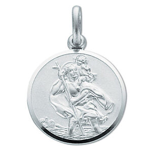 Solid-Silver-Round-St-Christopher-Pendant-Chain-5-4g