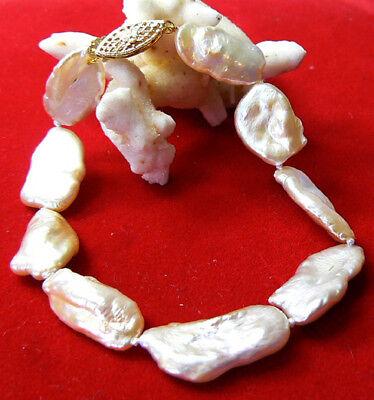High Luster Rare Rainbow Keishi Pearl 14k Gold Bracelet