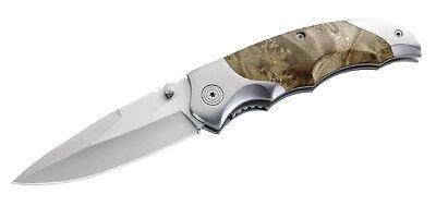Einhandmesser Edelstahl, Messer, Wurzelholzschalen