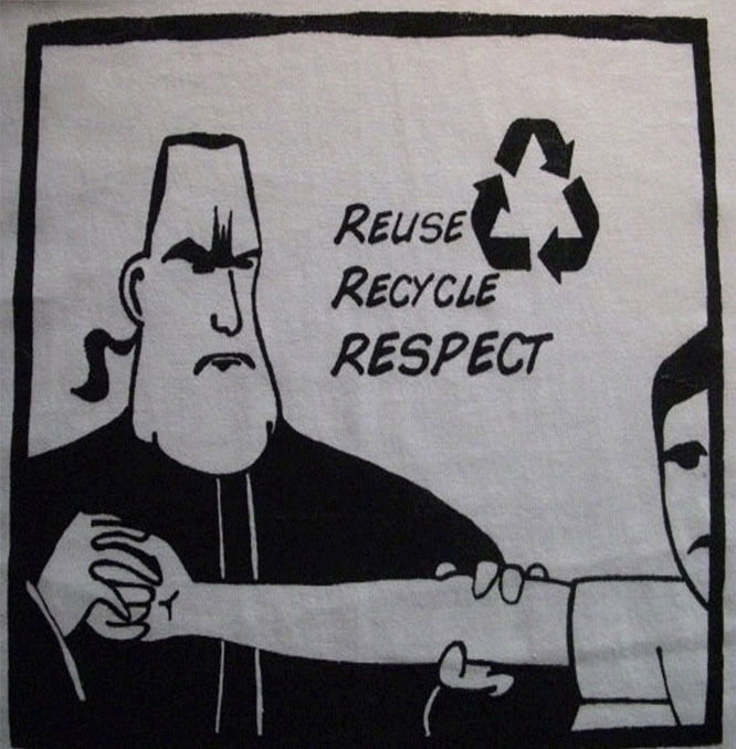 Steven Seagal Environment Recycle Shirt American Apparel 100% Cotton