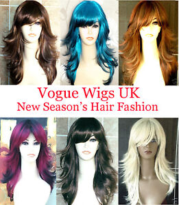 Ladies-Long-Blonde-Black-Brown-Fashion-Wig-Hair-in-Tappered-Style-Premium-Wig