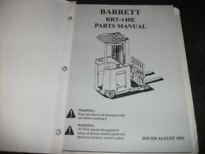 Barrett-RRT140E-RRT-140E-lift-parts-manual