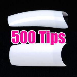 500-White-French-Acrylic-Style-False-Nail-Art-Tips