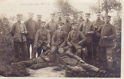 WW1 PHOTO of GERMAN ARMY SOLDIERS - CHAMPAGNE 1916