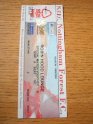 03/04/2000 Ticket: Nottinghamshire County Cup Final - N