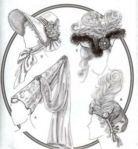 Butterick-B3805-SEWING-PATTERN-Victorian-Medieval-Costume-Hat-Bonnet-Fancy-Dress