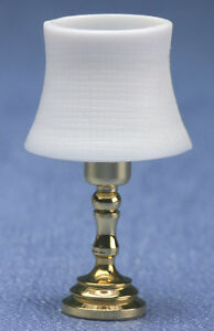 Dollhouse Miniature Beveled Shade Table Lamp Electric | eBay