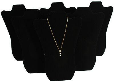 6 Black Velvet Pendant Necklace Jewelry Display 14