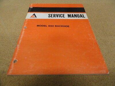 Allis Chalmers 650 Backhoe Service Manual