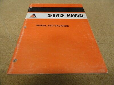 Allis Chalmers 650 Backhoe Service Manual