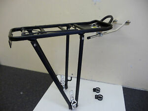 ALLOY-Cycle-Rear-Pannier-Rack-with-Sprung-ClipNEW-BLACK