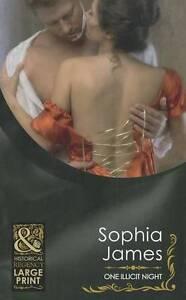 Sophia James, One Illicit Night (Mills & Boon Historical Romance), Very Good Boo