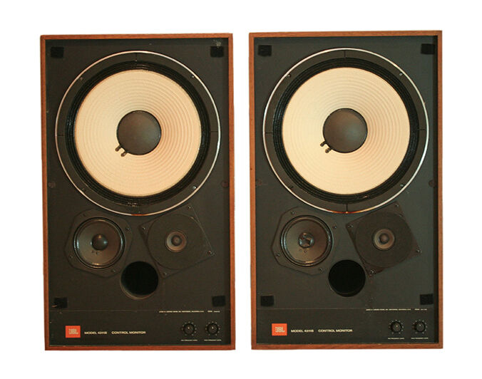 The JBL 4311B Speakers Are Large Bookshelf Type Ported Each Speaker Cabinet Includes A 12 Inch Woofer 5 Midrange And 15