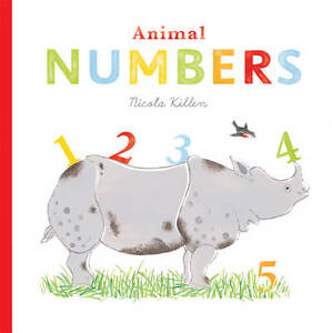 Animal Numbers by Nicola Killen (Board book, Lift the Flap) New Book