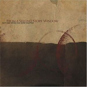From a Second Story Window - Not One Word Has Been Omitted (2011)  CD NEW/SEALED