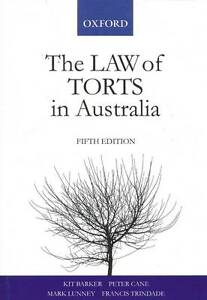 THE-LAW-OF-TORTS-IN-AUSTRALIA-KIT-BARKER-FIFTH-EDITION-LIKE-NEW