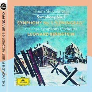 Shostakovich-Symphonies-Nos-1-amp-7-034-Leningrad-034-Leonard-Bernstein-Chicago-Symph