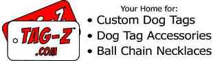 Tag-Z Dog Tags and Ball Chain