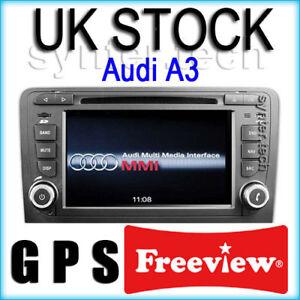AUDI-A3-S3-7-GPS-SAT-NAV-DVD-MP3-iPOD-BLUETOOTH-DIGITAL-TV-DVB-NEW-UK