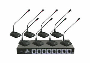 new pyle pdwm8300 professional conference desktop vhf wireless microphone system 68888901833 ebay. Black Bedroom Furniture Sets. Home Design Ideas